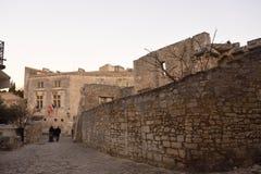 NIght inside of the  village of Les Baux de Provence, Stock Image