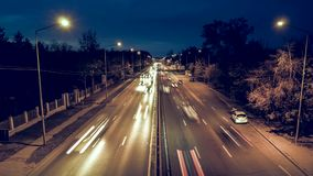 Night intense traffic time lapse video stock video footage
