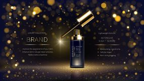 Night intensively revitalizing facial serum royalty free illustration