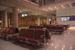 Night at the international airport lounge,Beijing,China Stock Photos