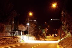Night intersection Royalty Free Stock Photography