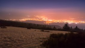 Night inversion in the mountains