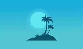 At night island of silhouettes landscape Royalty Free Stock Photo