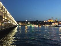 Night in Istanbul. Beautiful and lovely night in Turkey , Istanbul Royalty Free Stock Photography