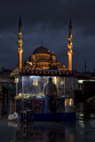 A night in Istanbul stock photo