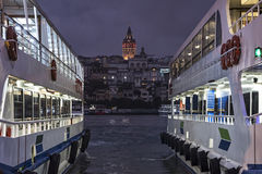 A night in Istanbul stock image