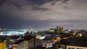 Night Istanbul skyline Royalty Free Stock Photo