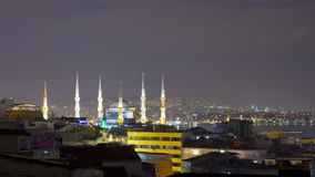 Night Istanbul skyline Stock Images