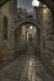 The night in Jerusalem streets Stock Photos