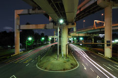 Night junction Stock Images