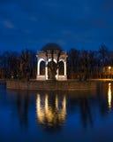Night in Kadriorg park, Tallinn. Night scenery from Kadriorg park in Tallinn. Reflection in water Stock Photos