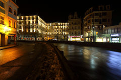 Night Karlovy Vary Royalty Free Stock Images
