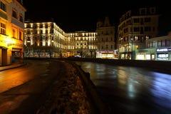Night Karlovy Vary Royalty Free Stock Images