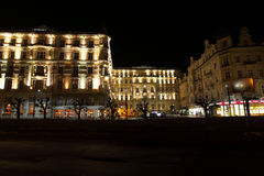 Night Karlovy Vary Stock Image