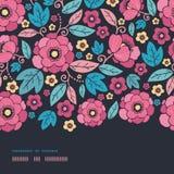 Night Kimono Blossom Horizontal Border Seamless Stock Image