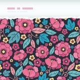Night Kimono Blossom Horizontal Torn Frame Stock Images