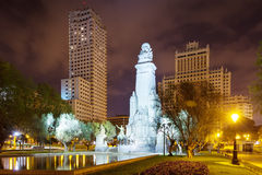 Night kind of Spain Square. Madrid Royalty Free Stock Images