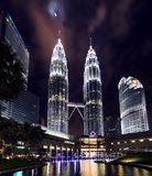 NIGHT OF KLCC TWIN TOWER Royalty Free Stock Images