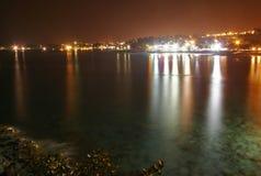 Night of Kona. Hawaii coast at night, Big Island, South Kona. USA Stock Images
