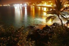 Night of Kona. Hawaii coast at night, Big Island, South Kona. USA Royalty Free Stock Photo