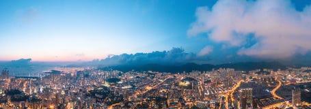 Night of Kowloon District, Hong Kong stock photo