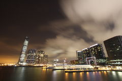 Night of Kowloon West stock photo