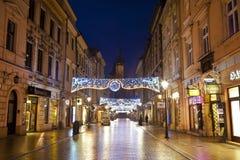 Night Krakow in Poland Royalty Free Stock Photo