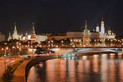 Night Kremlin Stock Images