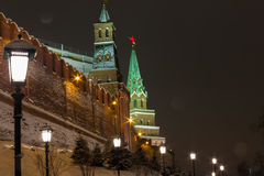 Night Kremlin Stock Photography