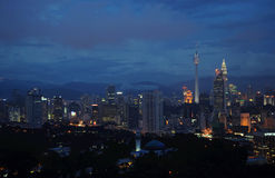 Night of Kuala Lumpur. Night panorama of Kuala Lumpur Royalty Free Stock Photography