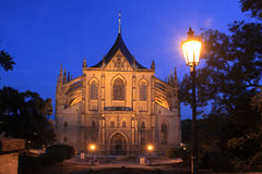 Night Kutna Hora Stock Photography