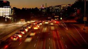 Night la highway time lapse stock video