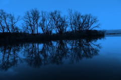 Night lake Stock Photography