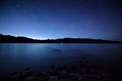 Night on lake Royalty Free Stock Image