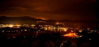 Night Lake `Lago D´Orta` royalty free stock photos