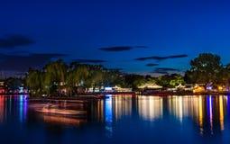Night lake stock photos
