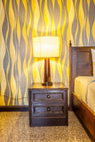 Night lamp on a bedside table Royalty Free Stock Photography