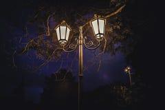 Bulb Night light street light stock photo