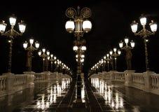 Night lamp post light Royalty Free Stock Photo
