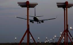 Night landing. Royalty Free Stock Photos