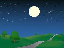 Night_landscape Illustration Stock