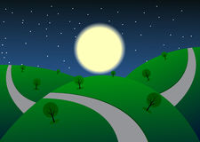 Night_landscape Royalty Free Stock Images