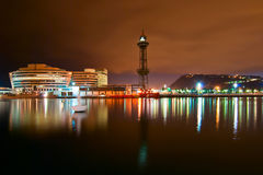 A night landscape. Of Barcelona Royalty Free Stock Photography