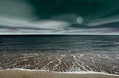 Night landscape. Beach Night landscape stock images