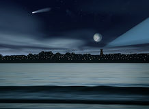 Night landscape Royalty Free Stock Photos
