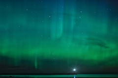 Night landscape with Aurora Borealis Royalty Free Stock Images