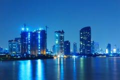Night landscape of Bangkok city. Stock Images