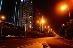 The night landscape of Baoan Avenue Royalty Free Stock Photos