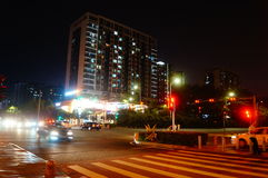 The night landscape of Baoan Avenue Royalty Free Stock Images