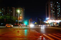 The night landscape of Baoan Avenue Royalty Free Stock Image